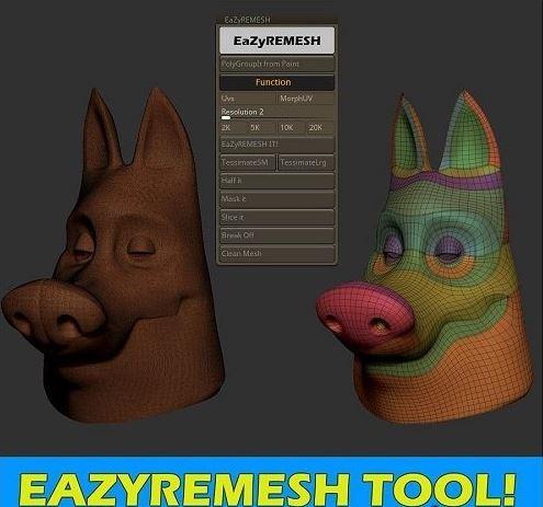 EaZyremesh v1.1 for ZBrush