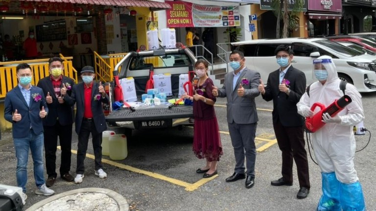 Six League Provides Free Disinfection Services