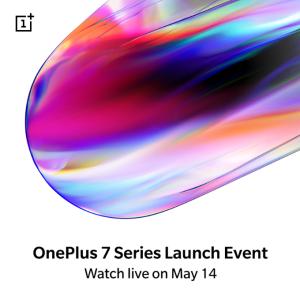 OnePlus 7シリーズの発表イベントの日程は5/14に決まりました。