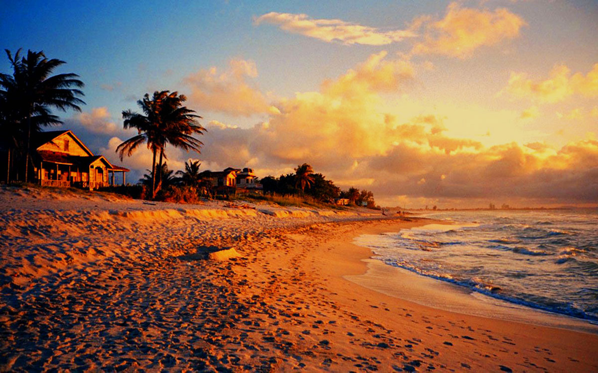 Cottage On Varadero Beach At Sunset Cuba