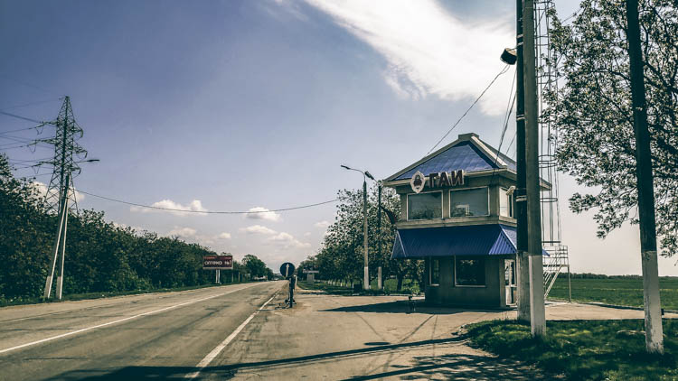 police checkpoint in transnistria