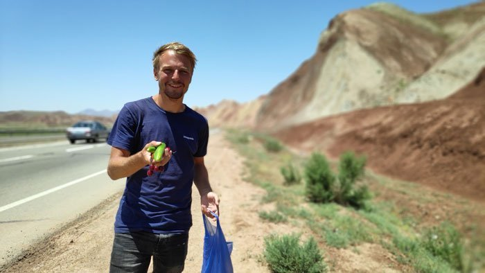 hitchhike in iran fruits