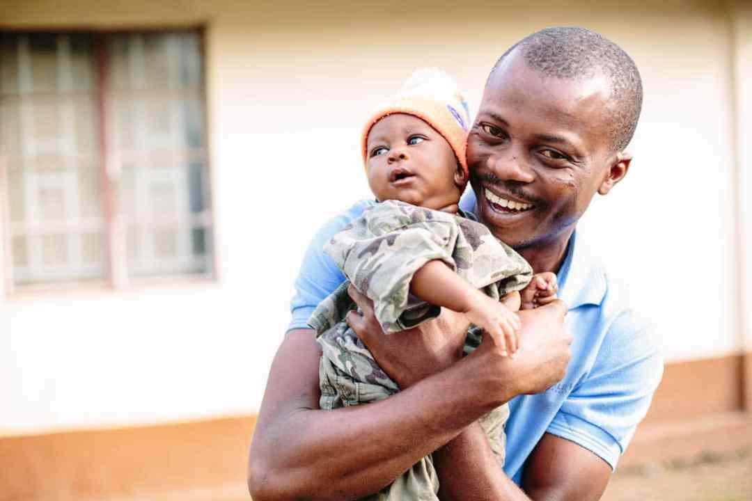 World Hope Volunteer with baby