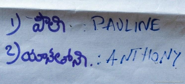 Nos noms en Telougou