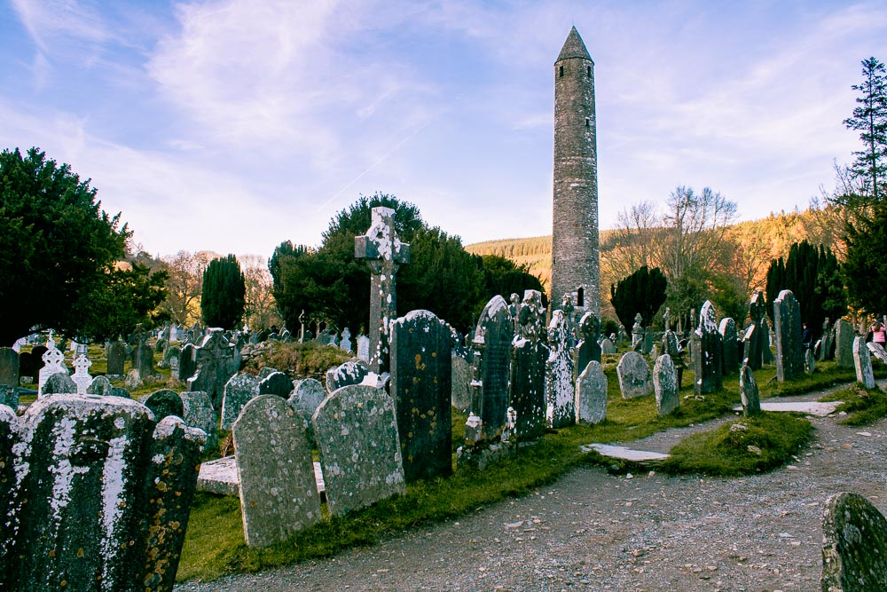 Glendalough Round Tower, 2 day trips from Dublin