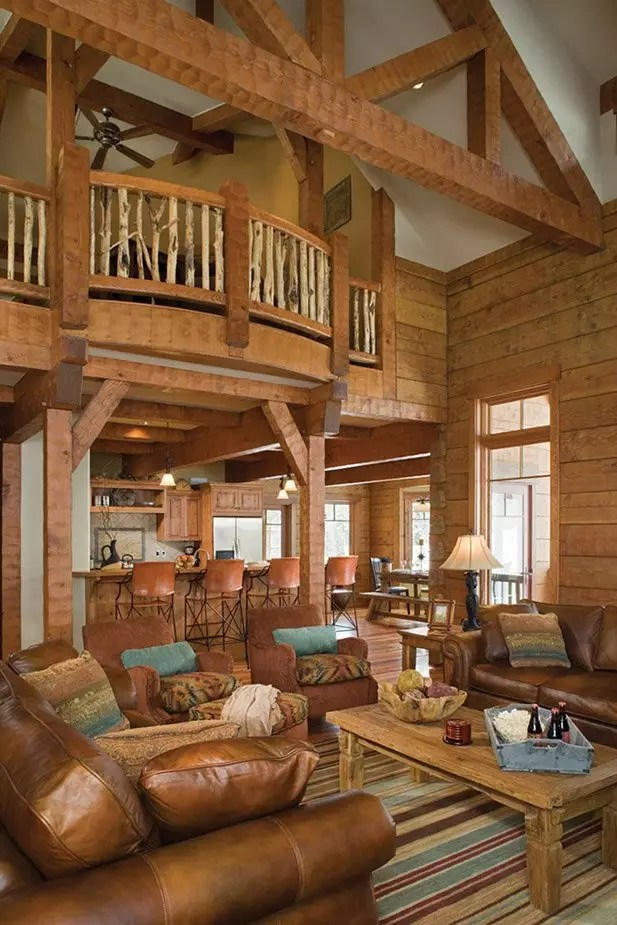 15 Examples of Wonderful Rustic Home Interior Designs ... on House Interior Ideas  id=75339