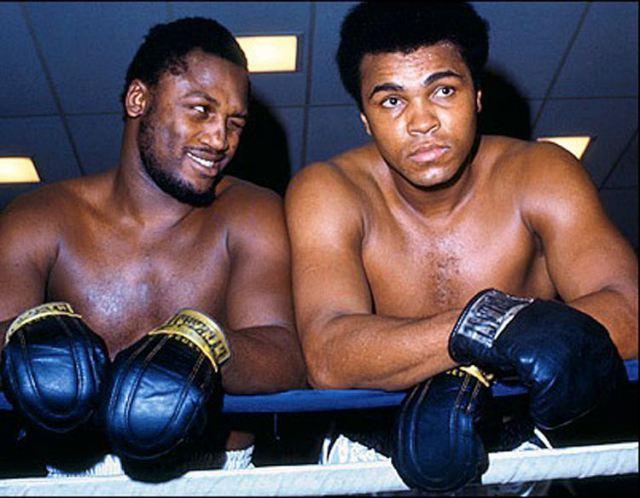 Joe Frazier With Muhammad Ali