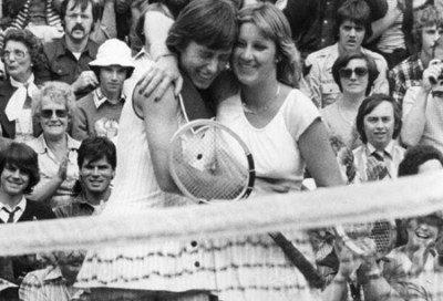 Chris Evert With Martina Navratilova