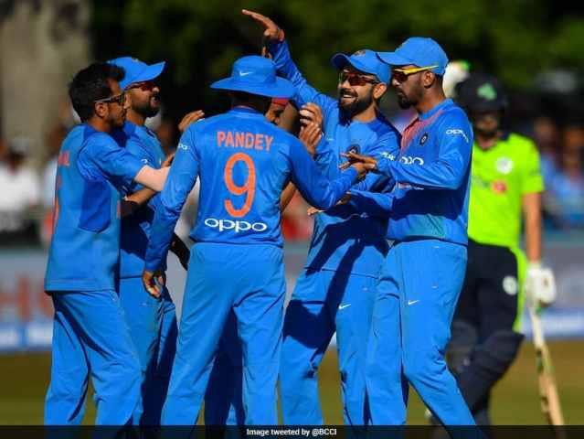 Team India Celebrate Their Dominance Over Ireland
