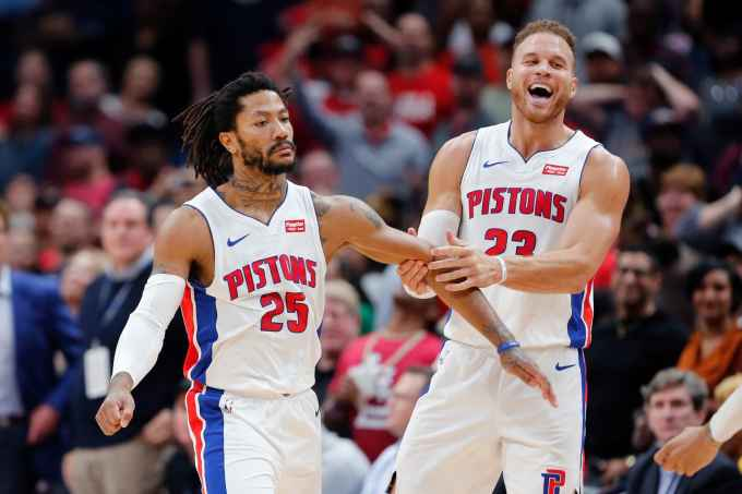 Can D. Rose And Blake Griffin Ride High For The Pistons?