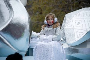 Girl in snow princes costume
