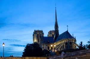 Evening view of Notre-Dame