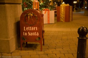 Mail box for Letters to Santa Claus