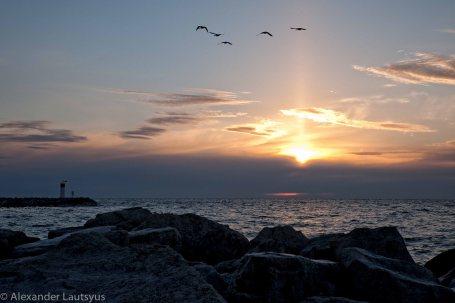 Sunrise on Bronte Harbour, Oakville