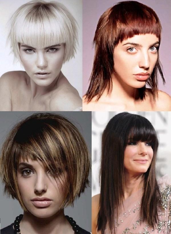 Стрижки с челкой 2020 челки средние волосы с фото, длинные ...