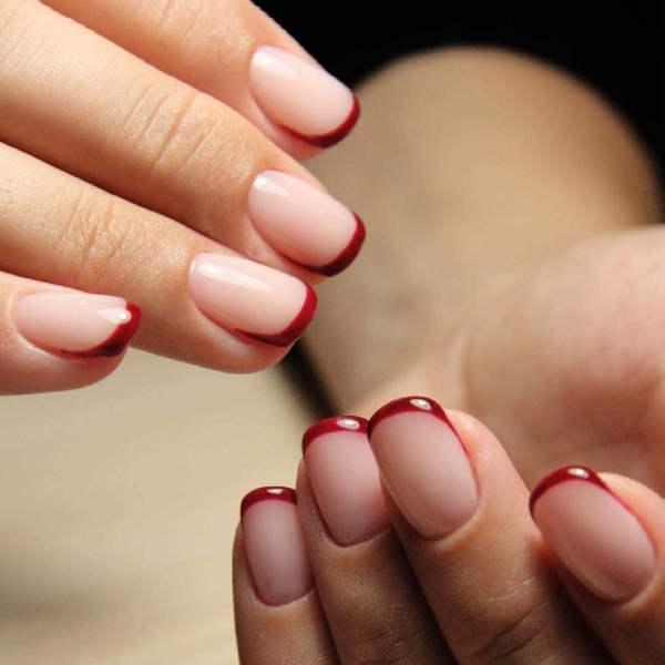 Френч 2021 маникюр на ногтях, фото дизайн, модные новинки ...