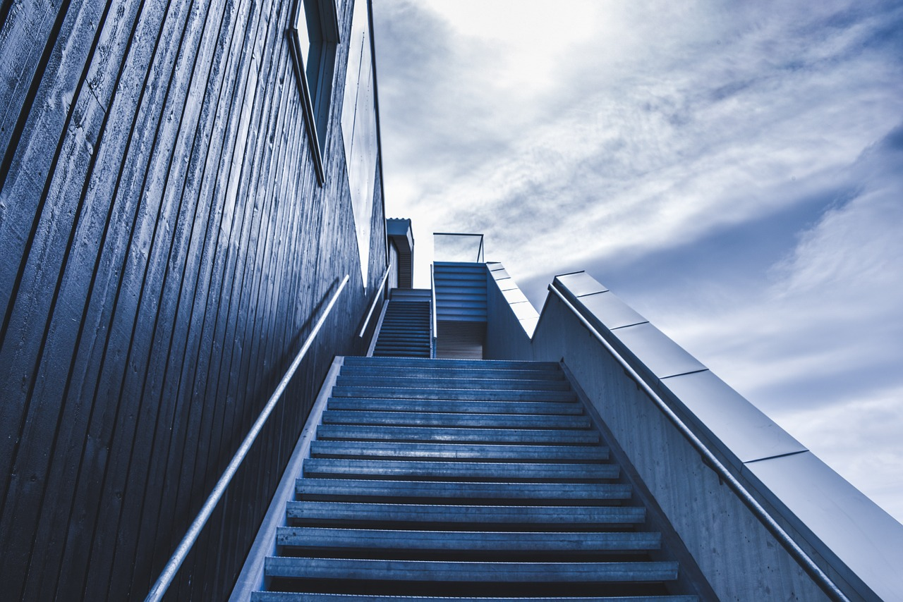stairway, staircase, stairs