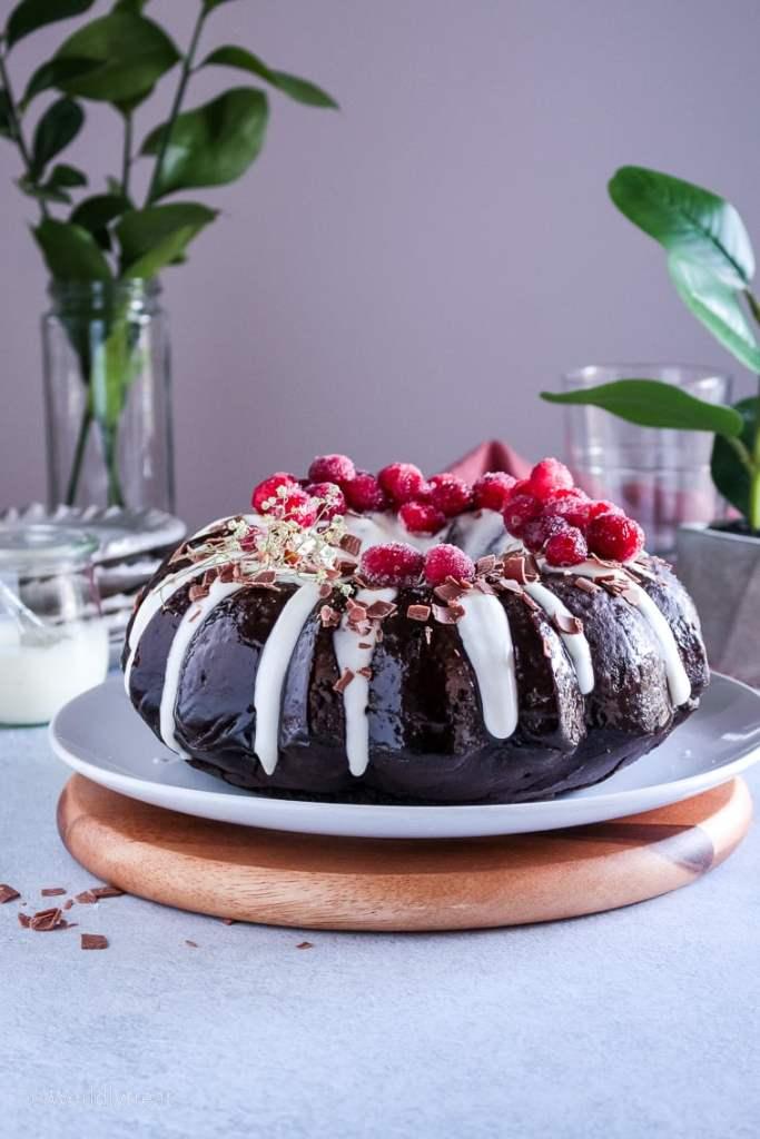 chocolate beetroot zucchini bundt cake