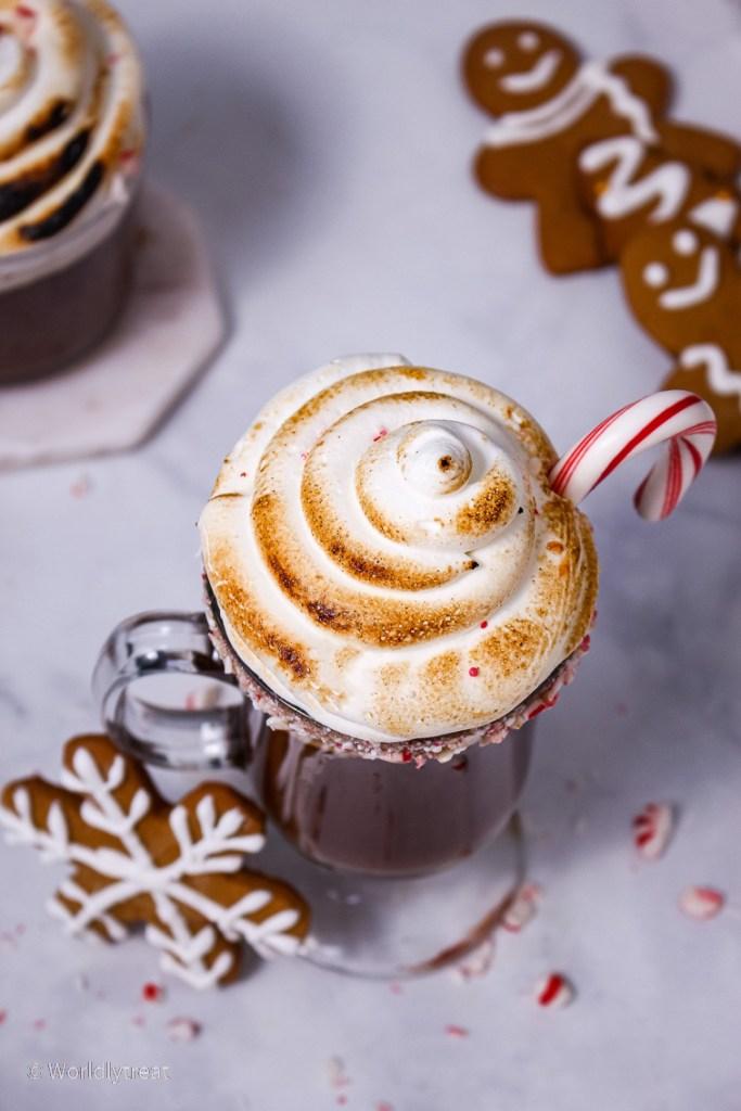 Spiked peppermint Hot Chocolate