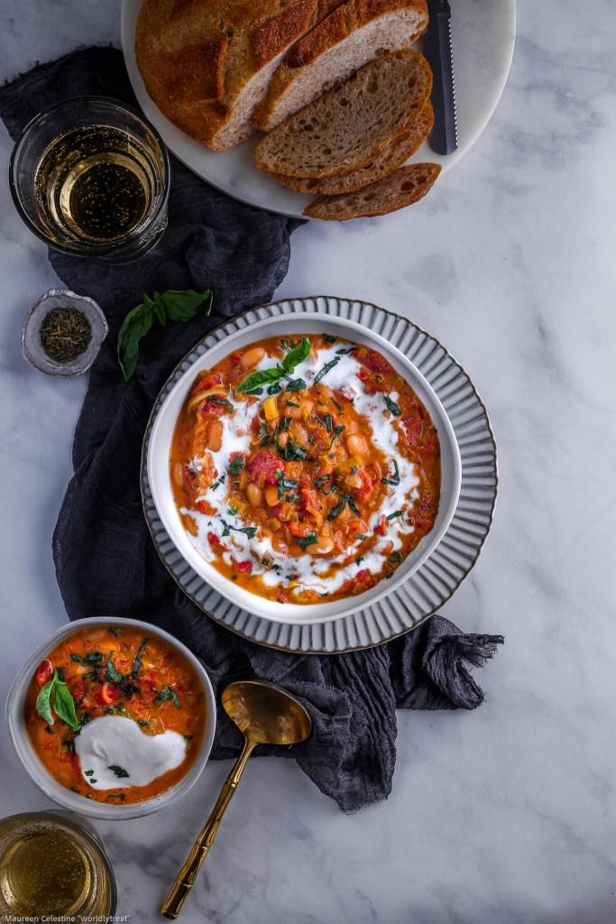 Duo Bean Tomato Basil Soup