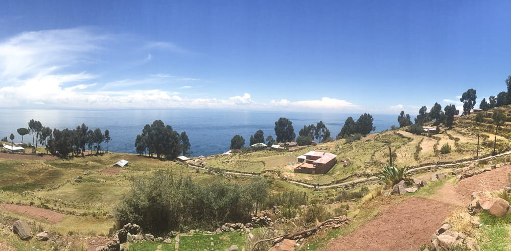 taquile island lake titicaca view