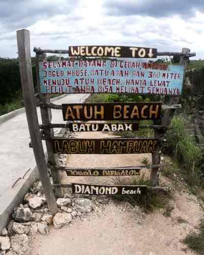 Atuh Beach Diamond Beach Nusa Penida