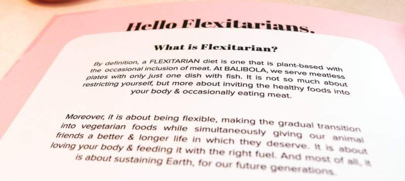Balibola: What is a flexitarian