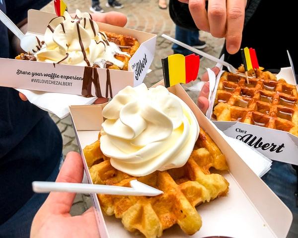 Bruges on a Budget - Belgian Waffles