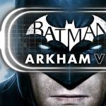 Batman Arkham VR logo over Batman's face