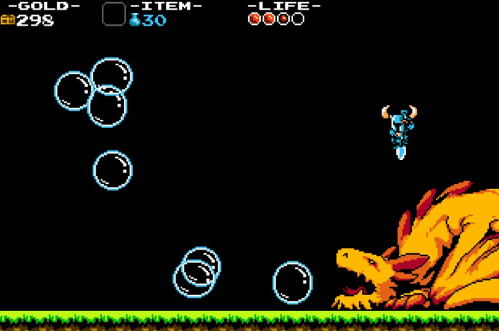 shovel knight and a dragon
