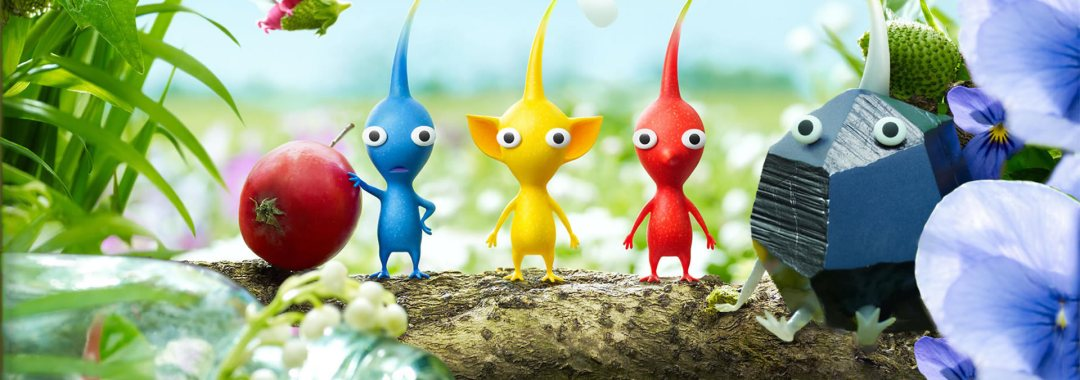 pikmin stand on a branch