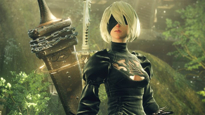 2B with her sword