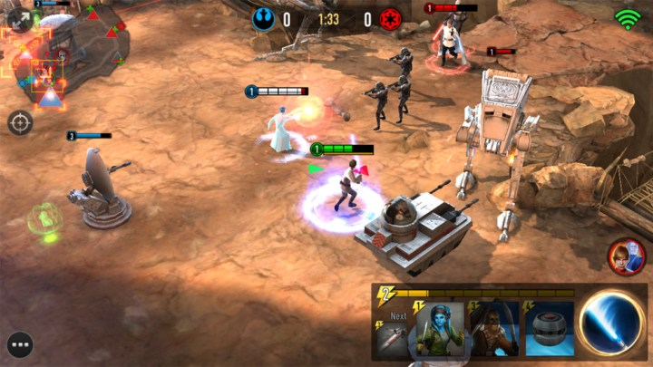 star wars characters fight in lanes