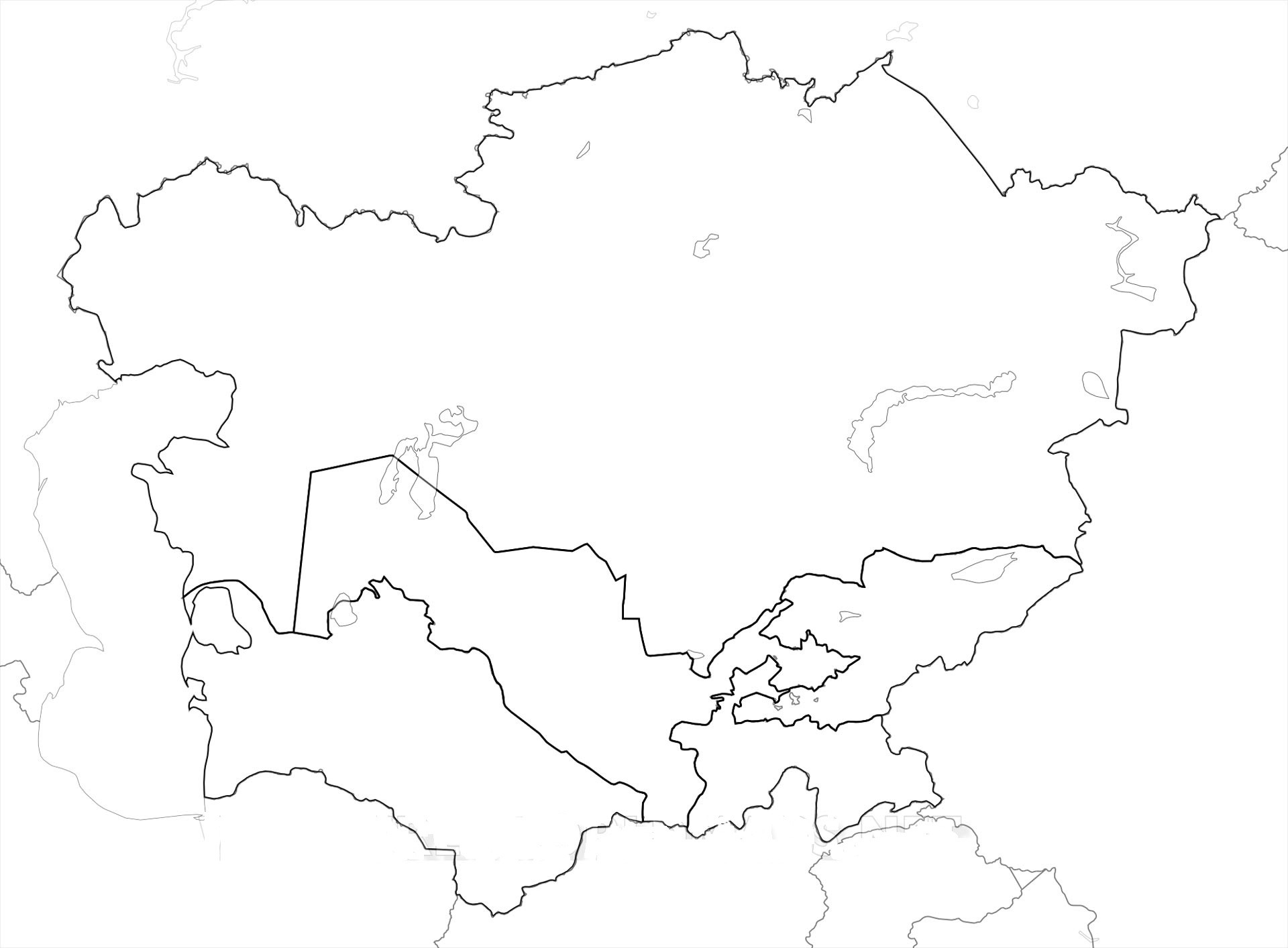 Printable South Asia Map Blank