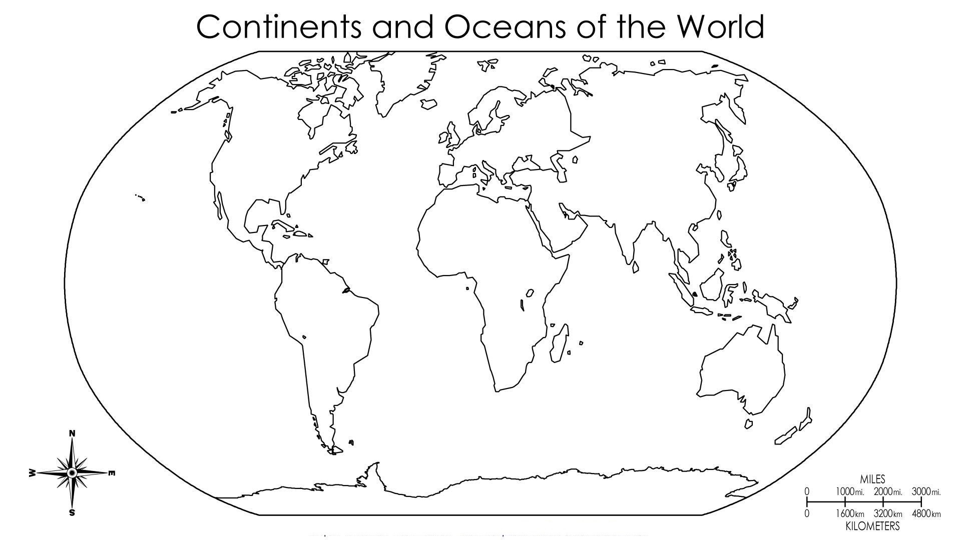 Free Sample Blank Map Of The World With Countries