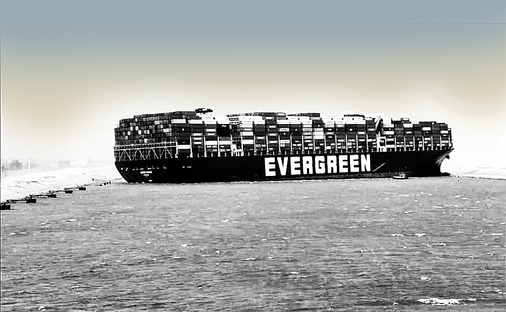 Ever Given vessel grounded in Suez