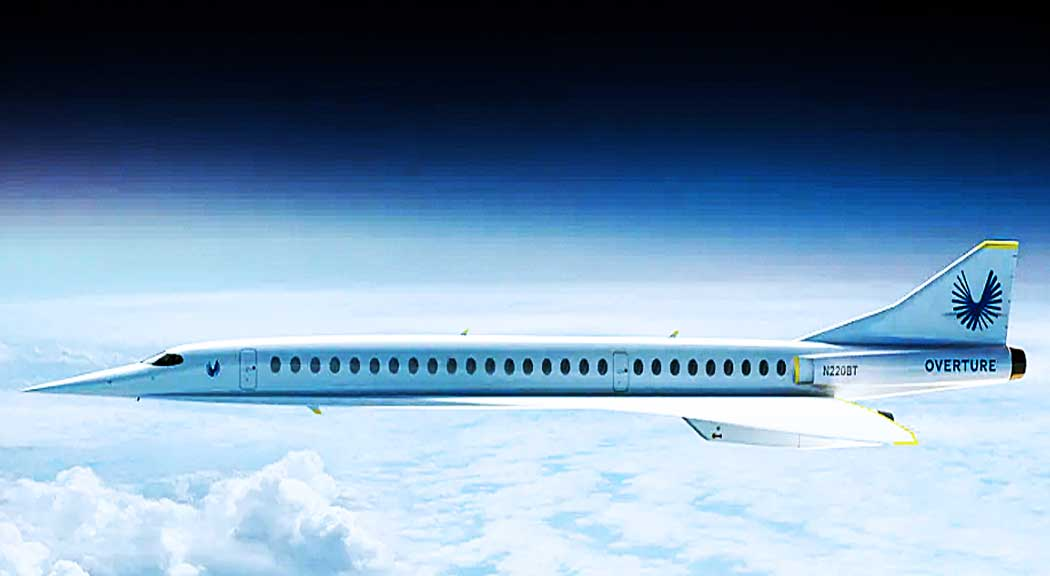 Boom Supersonic's conceptual airliner Overture