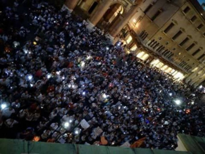 Italians protest mandatory vaccinations in July, 2017