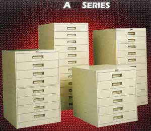 Russ Bassett aperture card cabinet