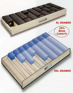 Roll film Microfilm Cabinet Drawer