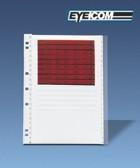 Microfiche storage panels