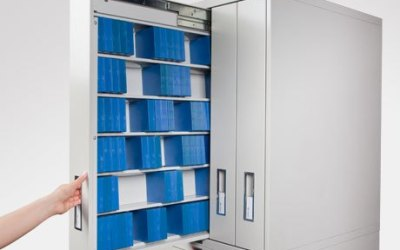 Russ Bassett Cabinets Store Aperture Cards Elegantly and Efficiently
