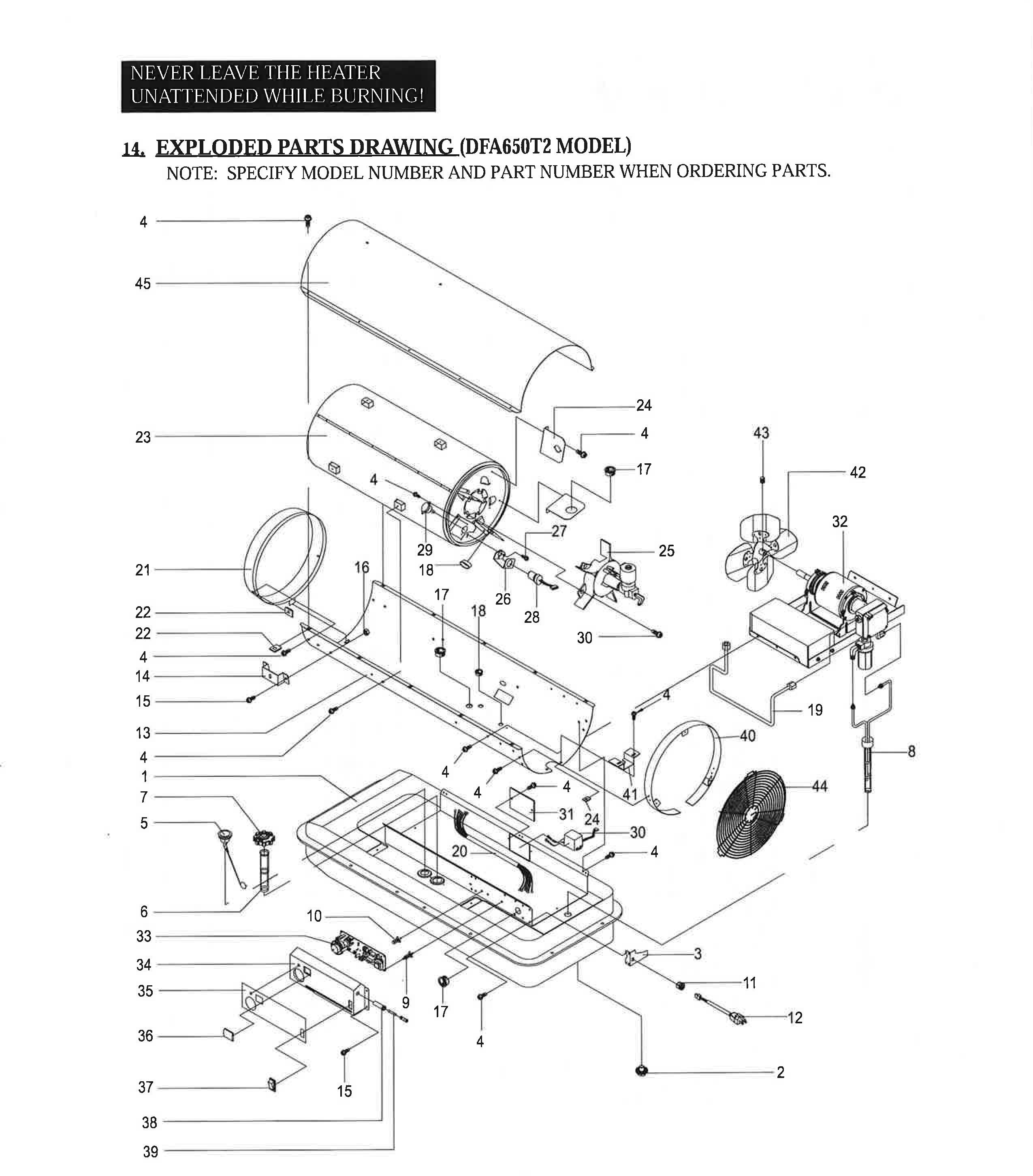 Dura Heat Dfa650t 650 000 Btu Kerosene Forced Air Heater