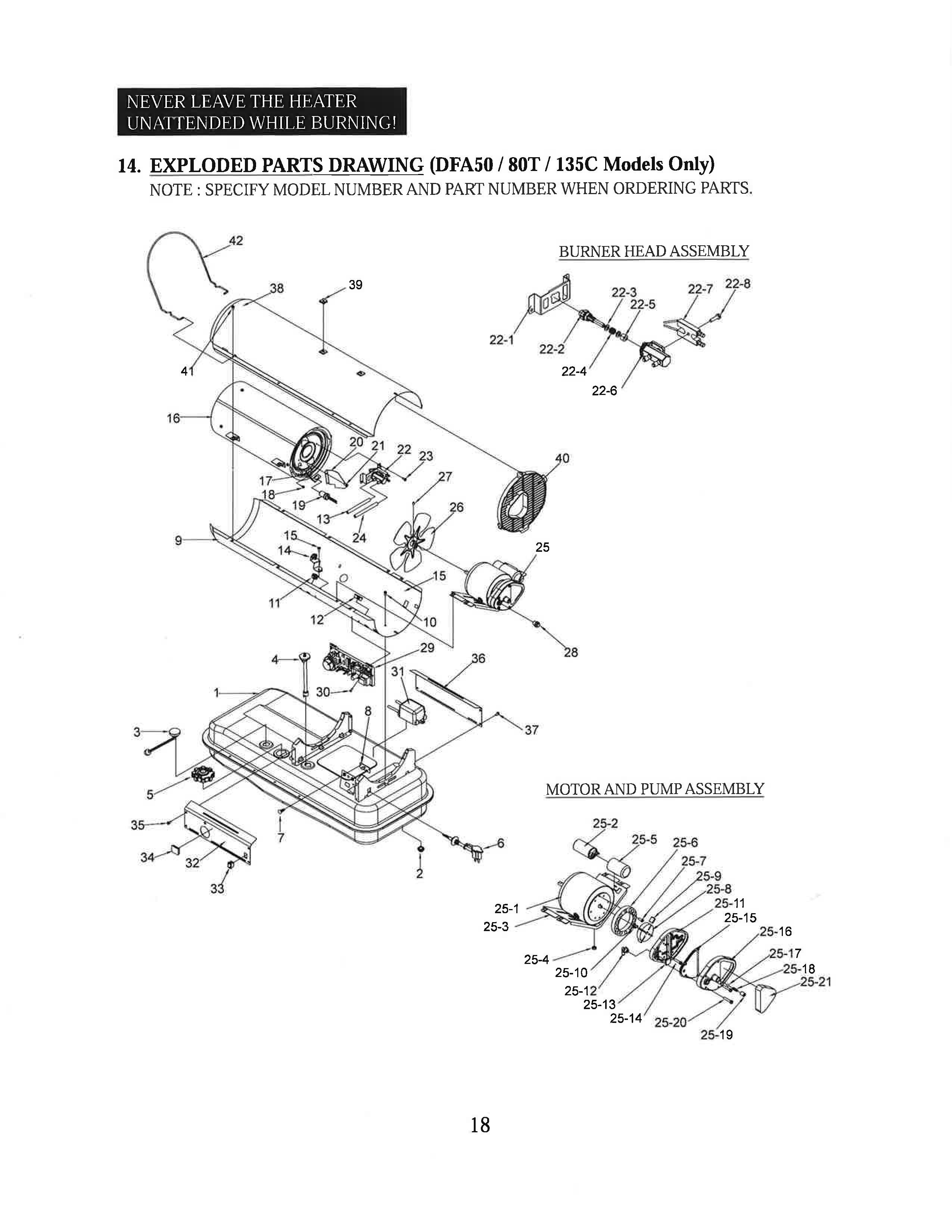 Dura Heat Dfa135c 135 000 Btu Kero Forced Air Heater With
