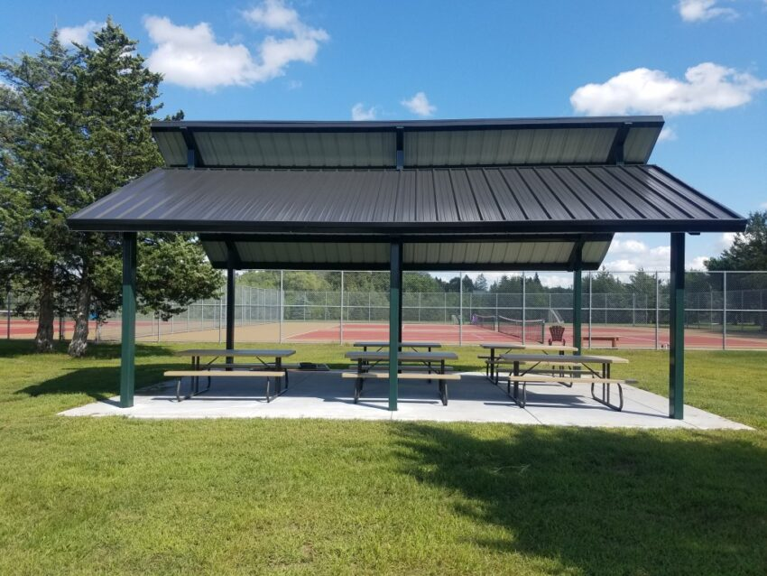 There are picnic shelters and tables at the Lower St. Croix Valley Bike Trail