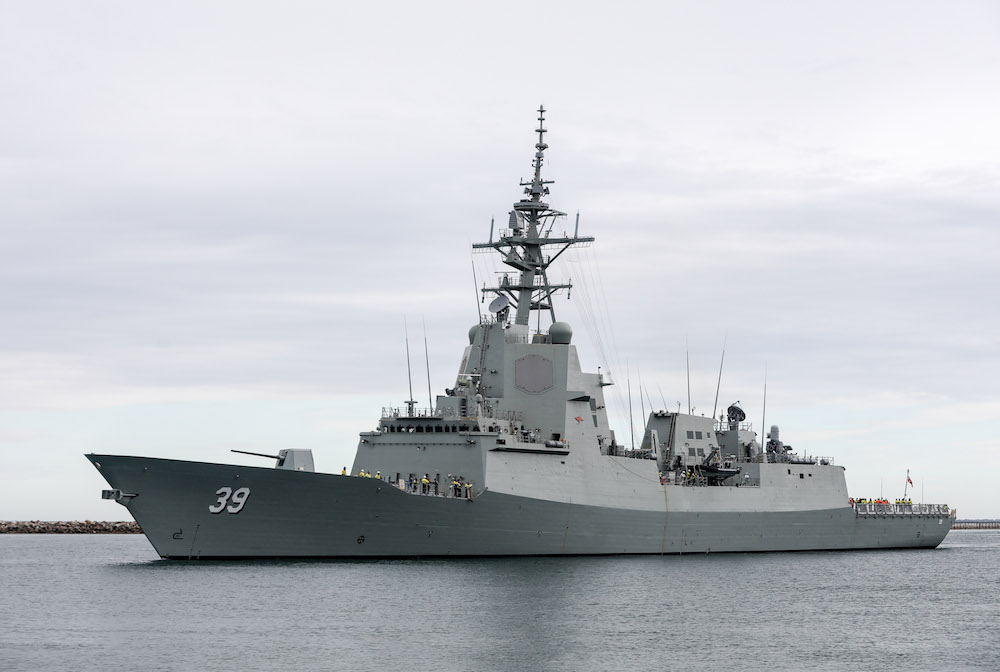 First Aegis Destroyer (HMAS Hobart) has been delivered to Australian Navy
