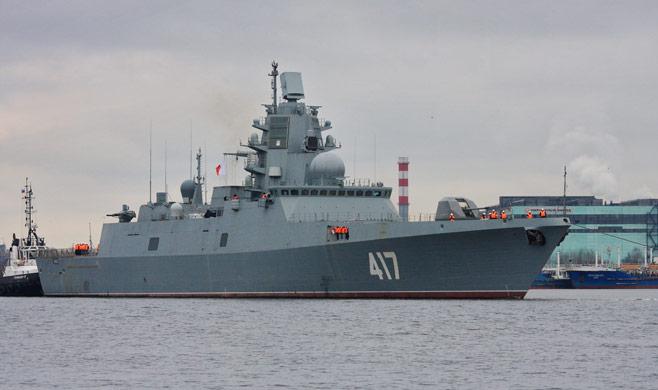 Russian frigate Admiral Gorshkov sea trials