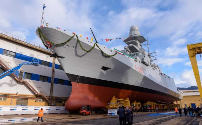 Fincantieri has launched 8th Carlo Bergamini Class (FREMM) Frigate