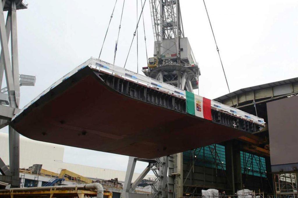 Fincantieri lays keel for Italian Navy LHD