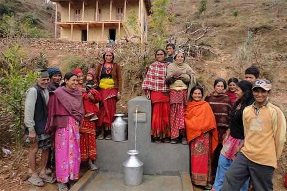 A community water tap in Nepal